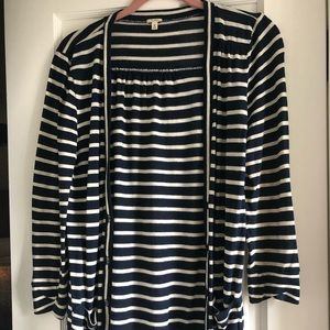 Jcrew lightweight striped cardigan size small